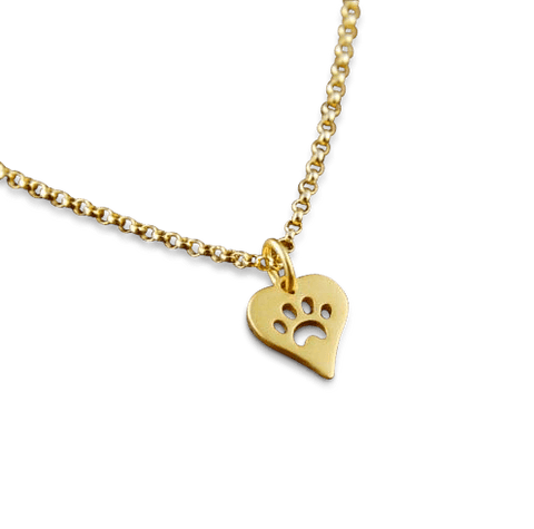 Necklace - Love For Paws Necklace - Gold