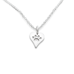 Necklace - Love For Paws Necklace - Silver