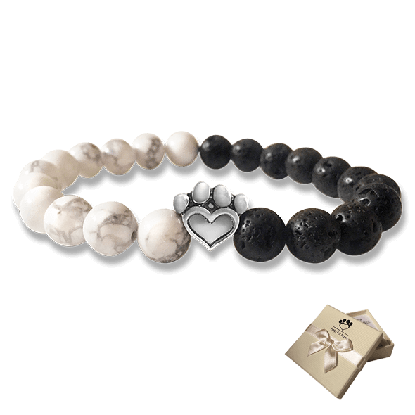 Help For Paws Bracelet In Black And White