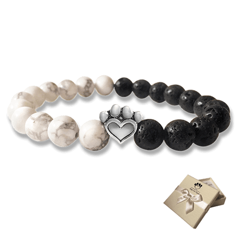 Bead Bracelet - Help For Paws™ Bracelet In Black And White