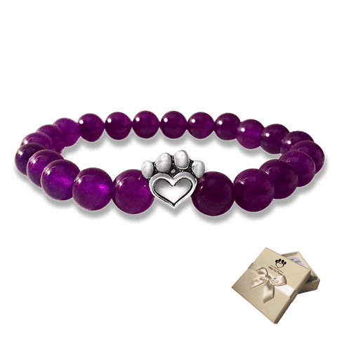 Bead Bracelet - Help For Paws™ Bracelet In Purple
