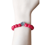 Bead Bracelet - Help For Paws™ Bracelet In Red