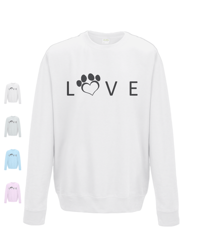Clothing - Help For Paws Love Sweatshirt - Black Logo