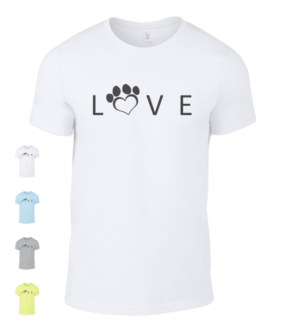 Clothing - Help For Paws Love T-Shirt - Black Logo