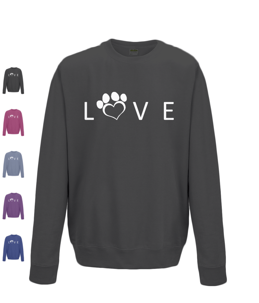 Help For Paws Love Sweatshirt - White Logo