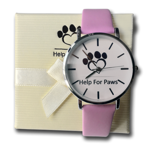Help For Paws Watch - Pink