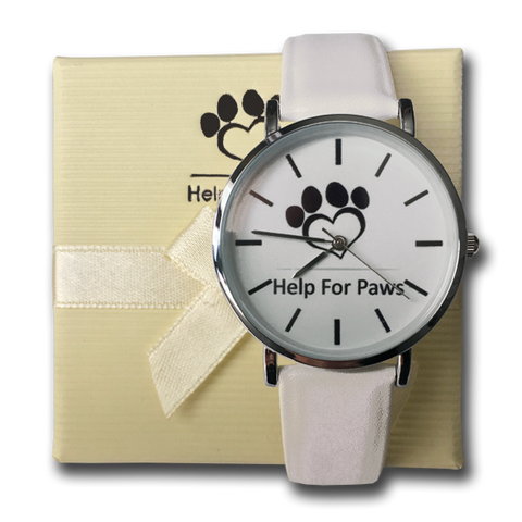 Help For Paws Watch - White
