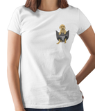 Labrador in a Pocket T-Shirt - Womens