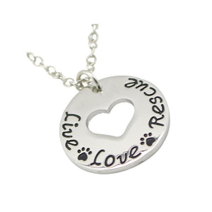 Necklace - Live Love Rescue Necklace