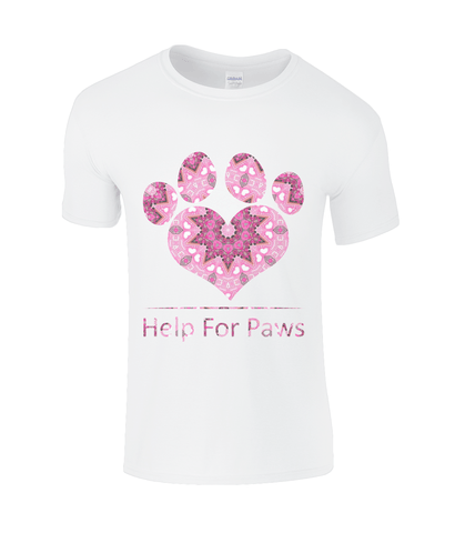 Clothing - Help For Paws Pink Kaleidoscope T-Shirt