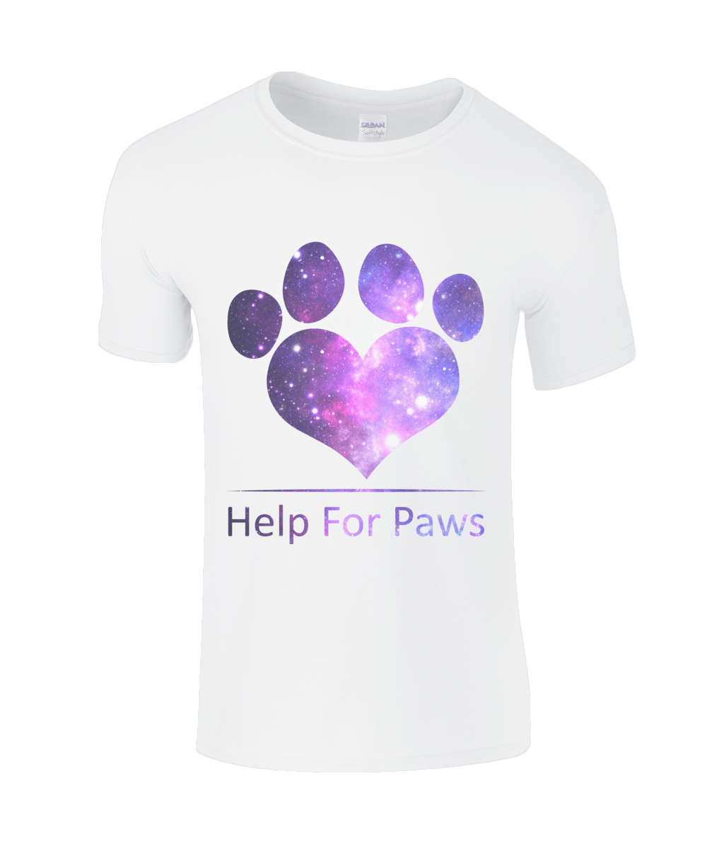 Help For Paws Galaxy White T-Shirt
