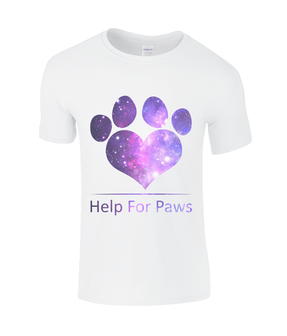 Clothing - Help For Paws Galaxy White T-Shirt