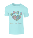 Clothing - Help For Paws Turquoise Paisley T-Shirt
