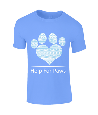 Clothing - Help For Paws Sky Blue Aztec T-Shirt