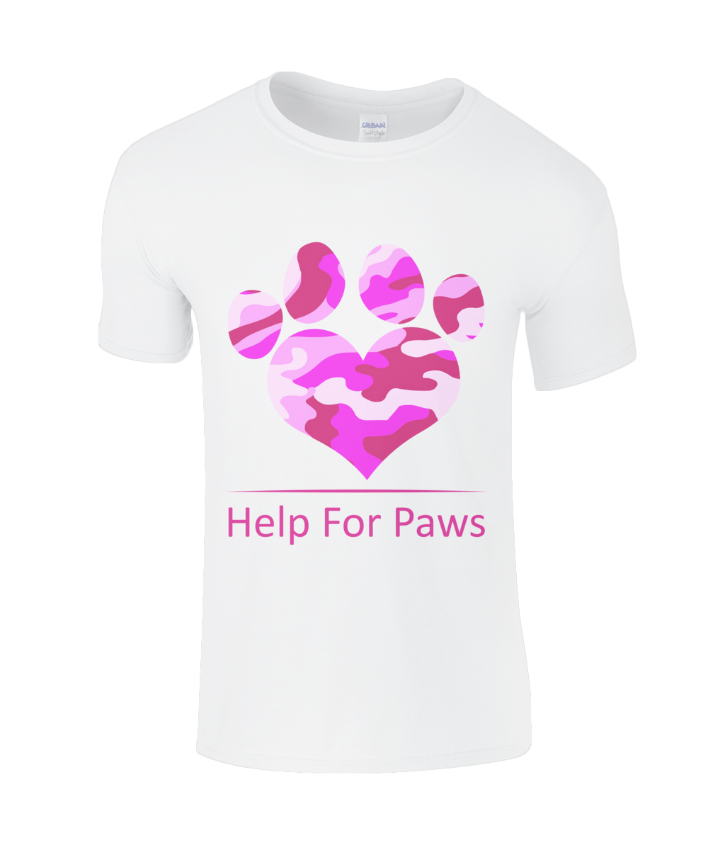 Help For Paws Pink Camo T-Shirt