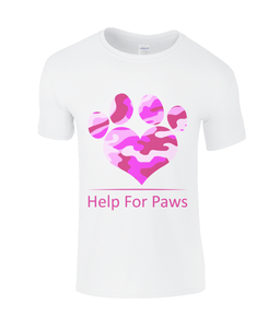 Clothing - Help For Paws Pink Camo T-Shirt