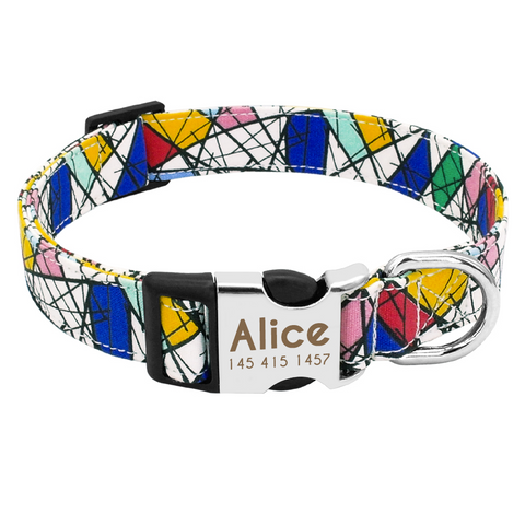 Mosiac Personalised Pet Collar
