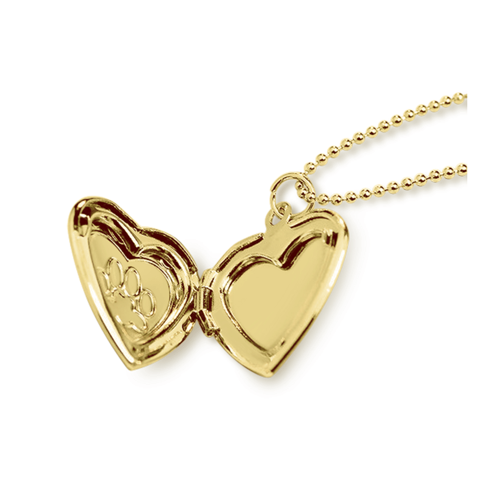 Paw Locket Necklace in Gold