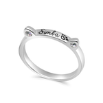 Personalised Cat Ear Shaped Name Ring
