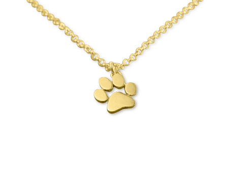 Necklace - Paw Necklace - Gold