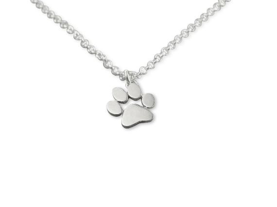 Necklace - Paw Necklace - Silver