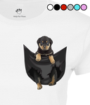 Rottweiler in a Pocket T-Shirt - Womens