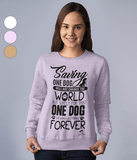 Clothing - Saving One Dog Sweatshirt - Black Text