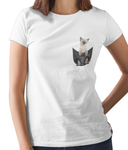 Siamese Cat in a Pocket T-Shirt - Womens