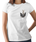 West Highland Terrier in a Pocket T-Shirt - Womens