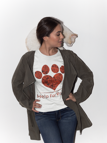 Help For Paws Valentine Roses T-Shirt