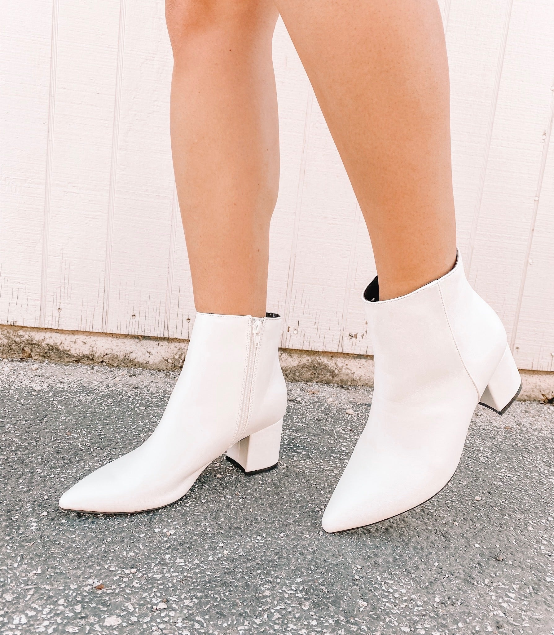 White Rapid Bootie