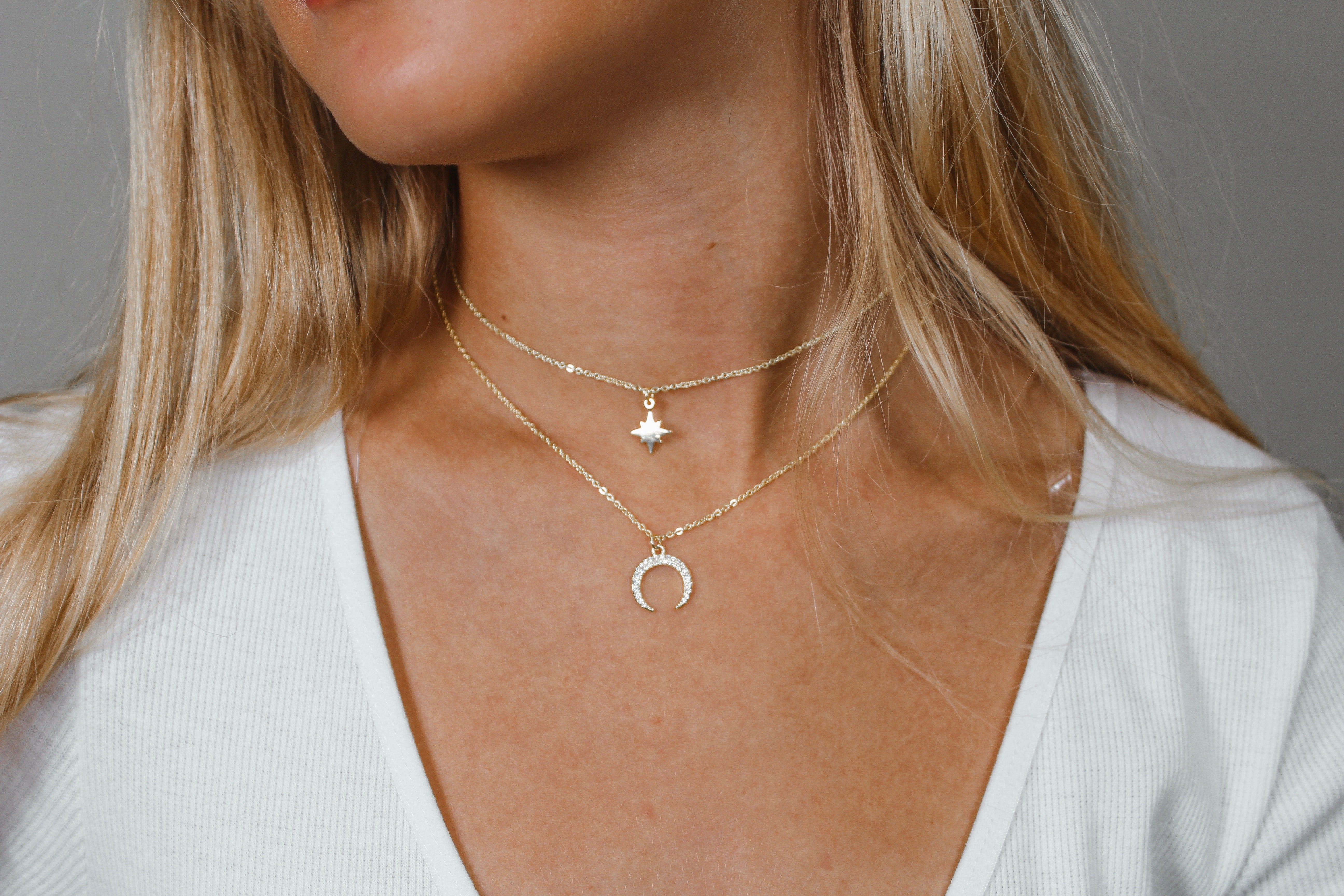 B.B. Lila Crescent Necklace