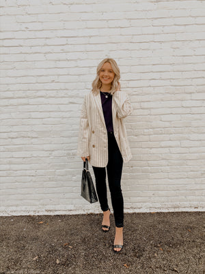 Sherry Striped Blazer