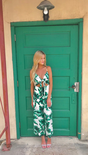 Tawny Tropical Jumpsuit