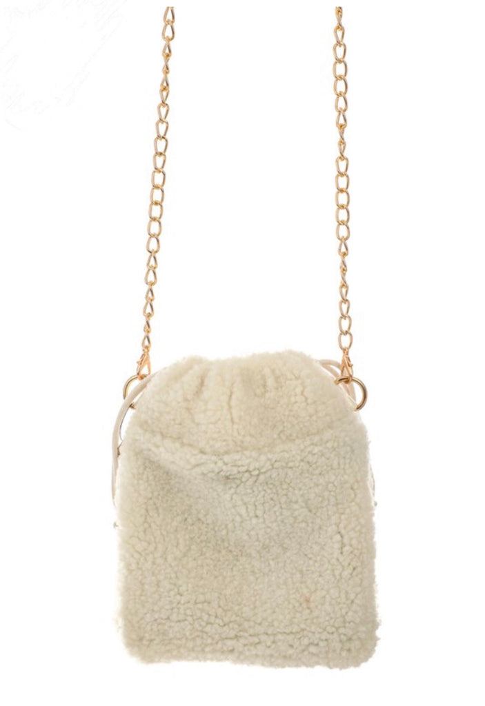 Fuzzy Satchel Bag