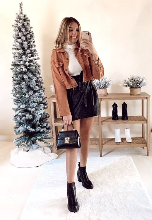 Maxxi Leather Skirt