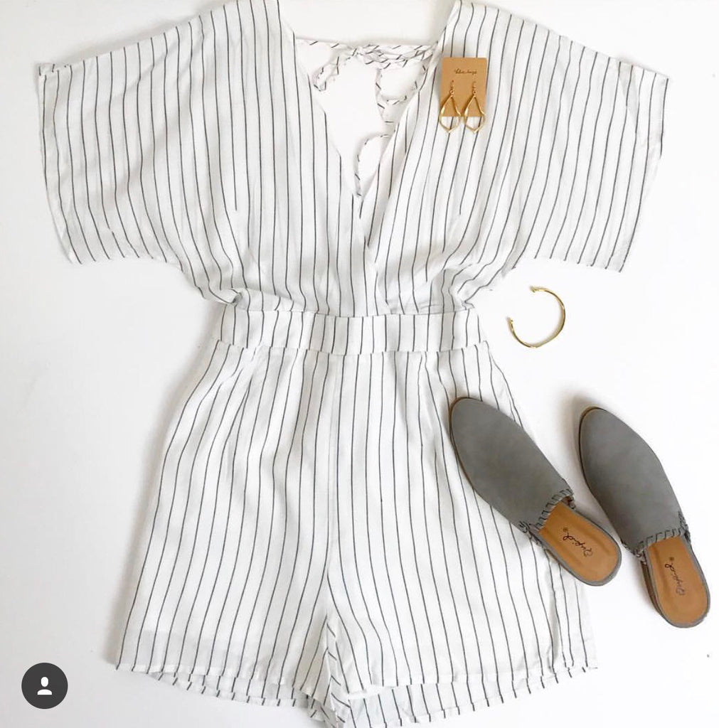 Mona Striped Romper