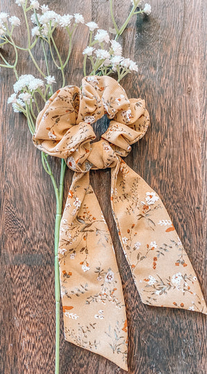 Patterned Scarf Tie Scrunchies