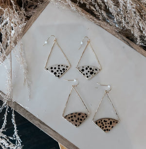 Cheetah Drop Earring