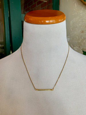 Walk the Line Bar Necklace