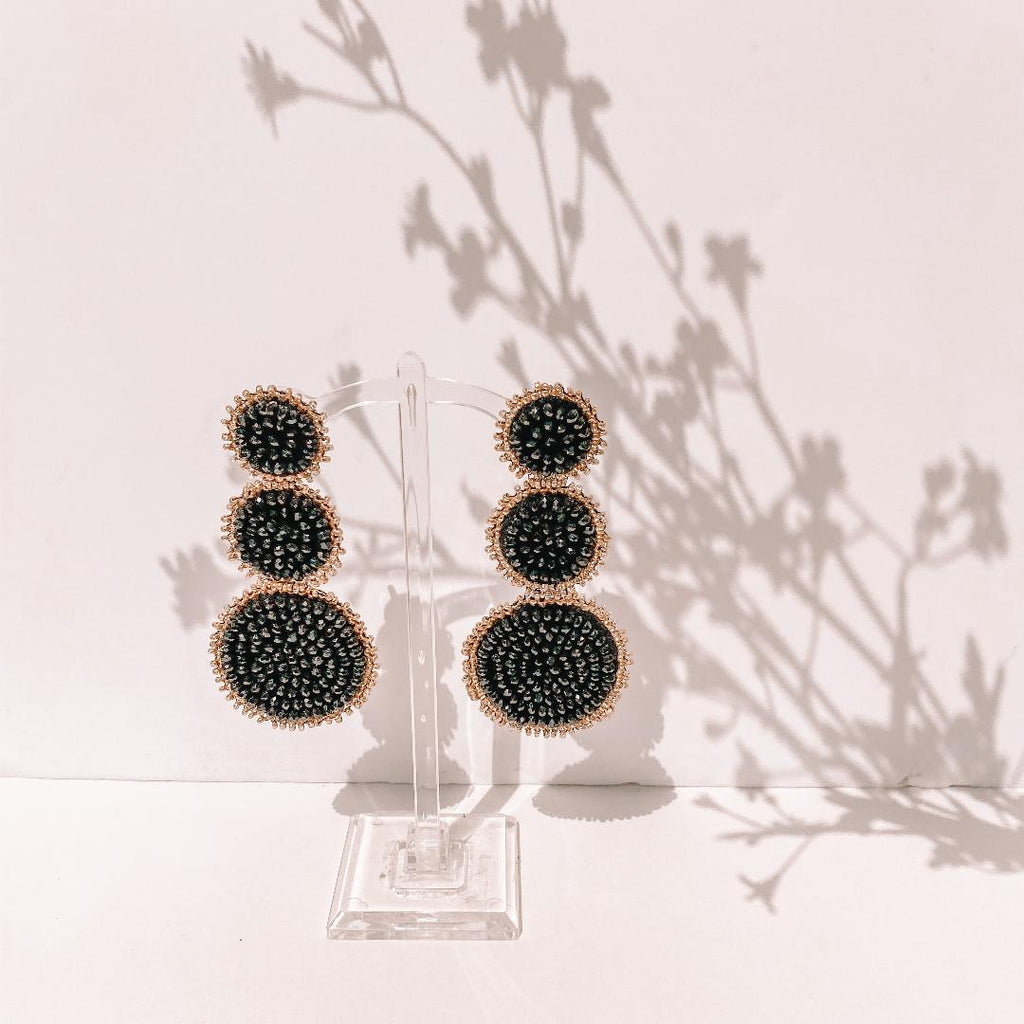 Beaded Disc Earring