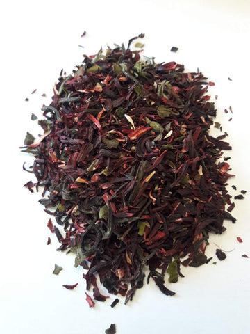 Hibiscus flowers, white tea, hibiscus white tea