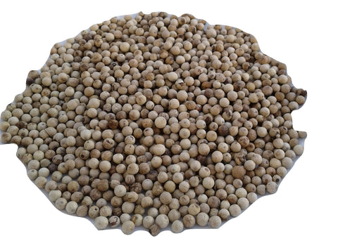Organic Whole white peppercorns, pepper