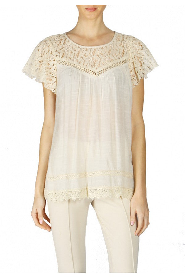 b3b3add6cc6 Areve crochet detailed lace tunic in cream – Razzle Dazzle Boutiques