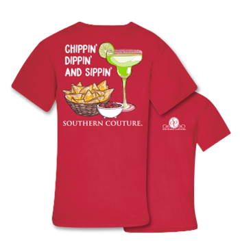 Southern Couture Comfort Chippin Dippin Sippin in red