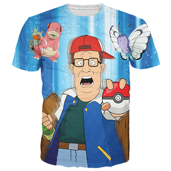 King of the Hill Pokemon Tee
