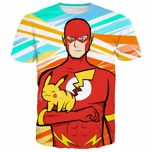 The Flash and Pikachu Agility Tee