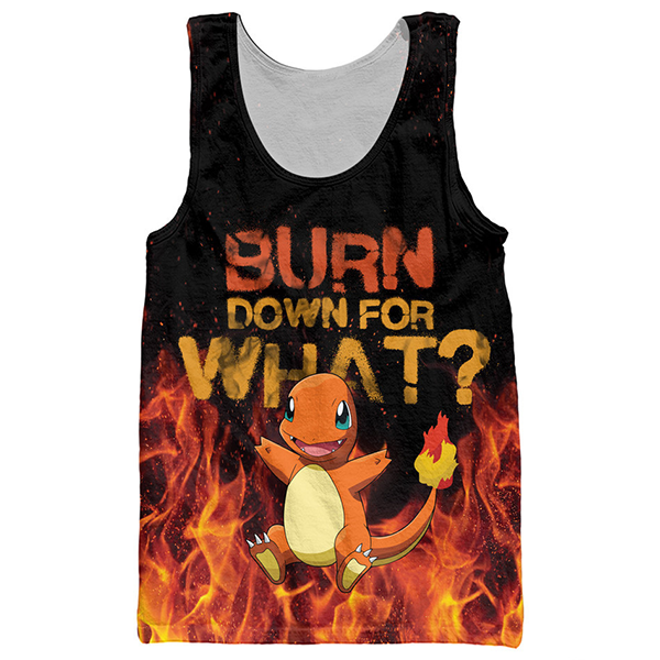 Pokemon Burn Down For What Shirts