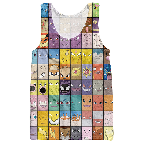 Pokemon Face Printed Shirt