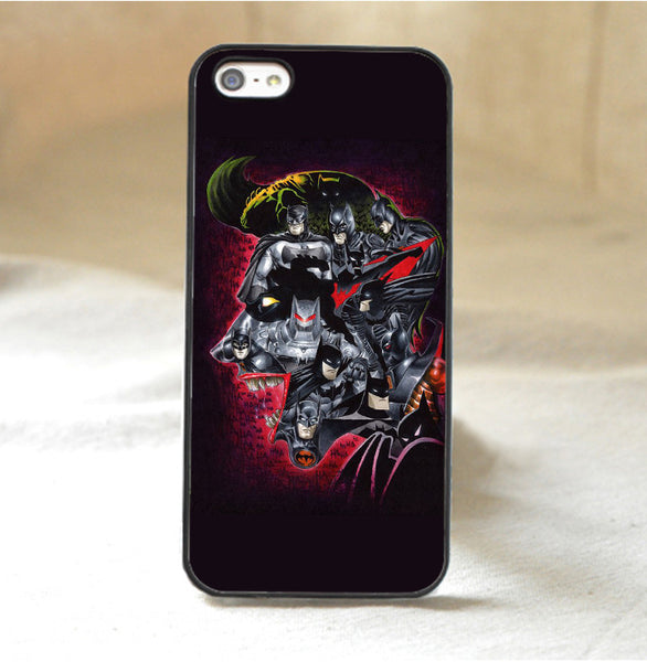 Batman on Joker Head Phone Case